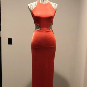 Misguided Sexy Backless Maxi Dress New with Tags
